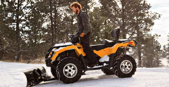 Are ATVs Good For Plowing Snow